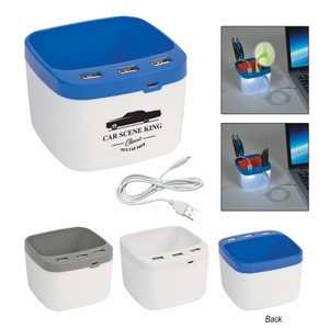 USB Desk Caddy with your logo USA inventoried