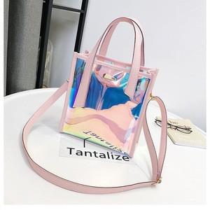 Wholesale ladys shoulder bag fashion shopping bags designer newest PVC laser women handbag