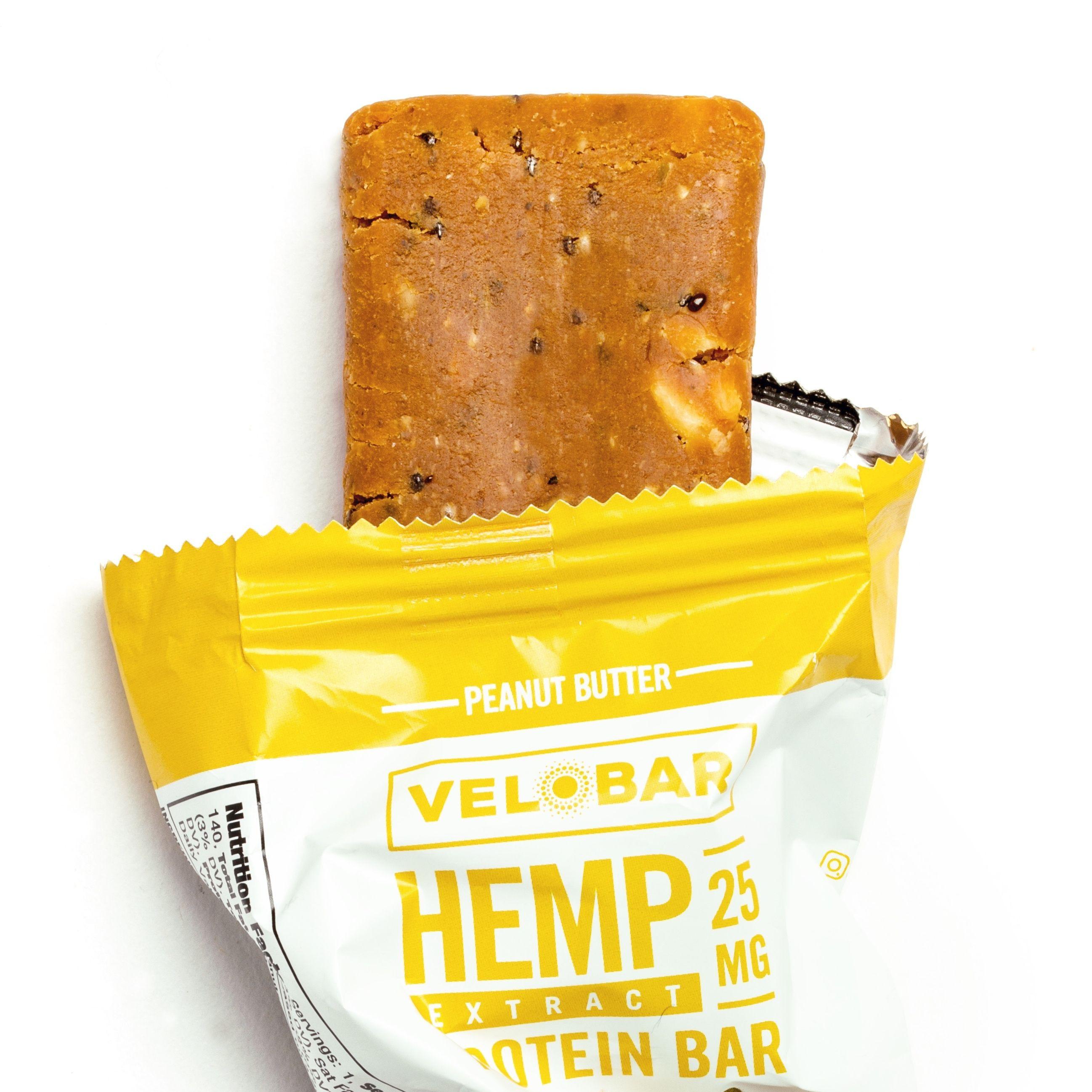 Velobar Hemp Extract Protein Bar / Peanut Butter flavor