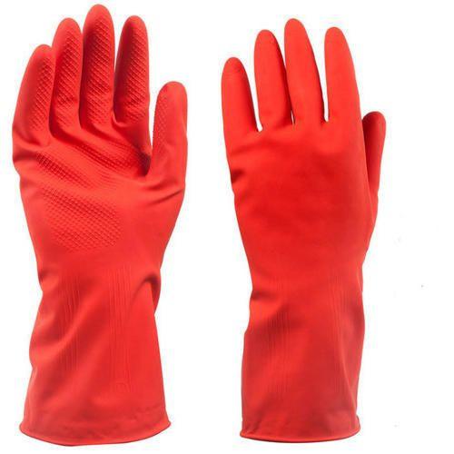 Large Red Safe Hand Rubber Gloves
