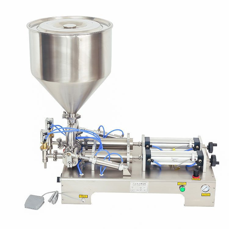 Double Nozzle Pneumatic horizontal paste  filling machine for food and beverage