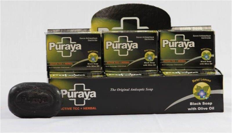 PURAYA SOAP - 90 Gm ( ANTISEPTIC BLACK SOAP - BOX PACK )