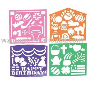 2015 PP/ PVC drawing stencil/ plastic stencil for drawing
