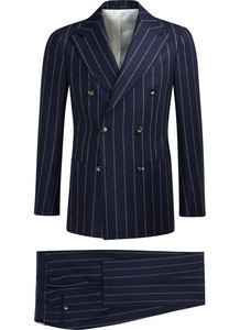 2018 Direct Manufacturer of Double Breasted Strips Blazer with Factory Wholesale Prices