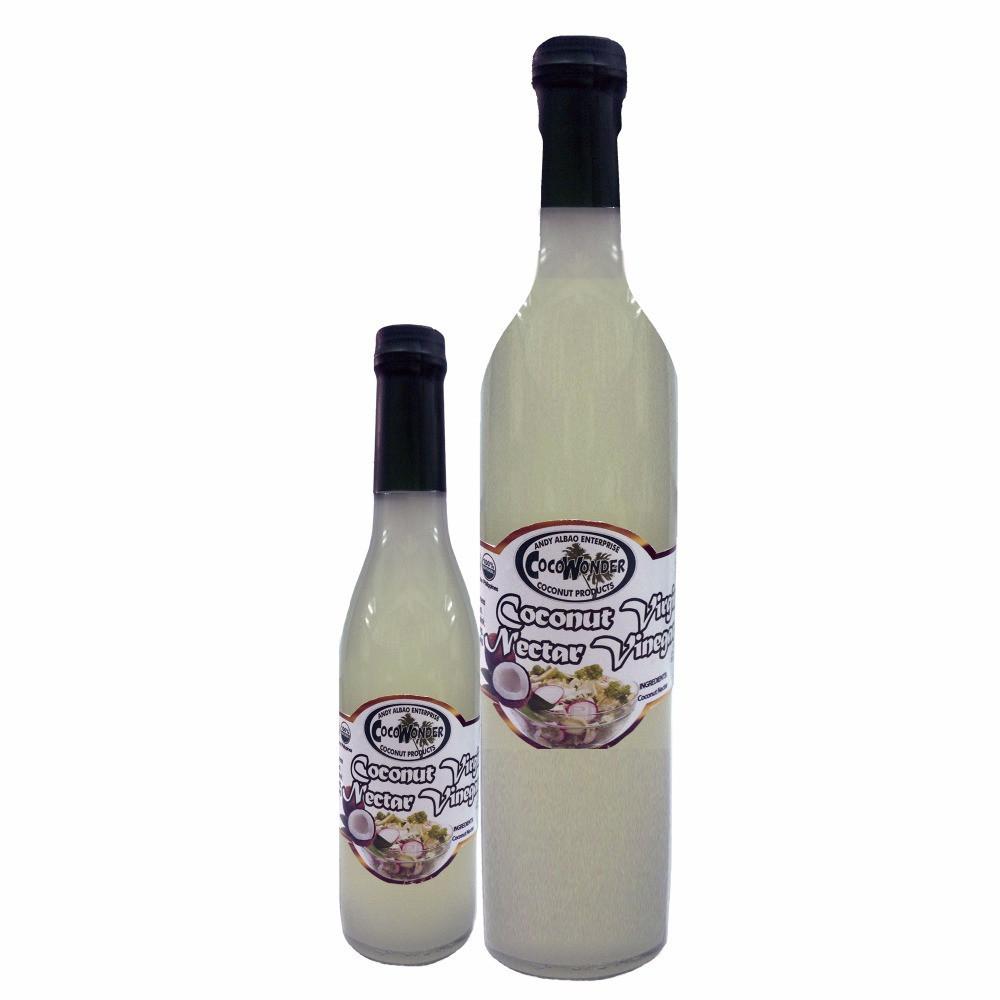 375 ml COCONUT VIRGIN VINEGAR - Low Acidity,  USDA & EU Certified Organic