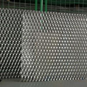 Aluminum diamond shape wire mesh raised expanded metal