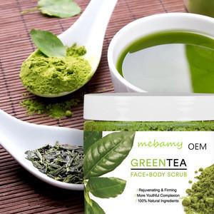 Best selling private label green tea body+face scrub