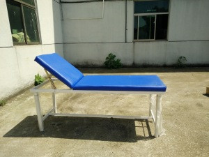 BT-EA001 Cheap hospital furnitures, patient steel examination table bed with adjustable back