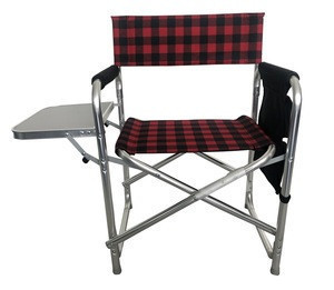 Compact aluminum frame camp chair director sports chairs easy folding light weight  with side table storage bags