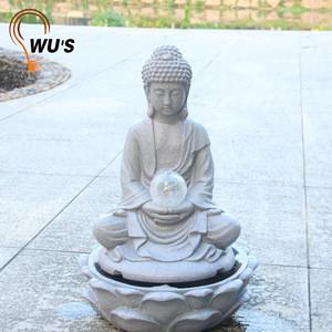 Custom fine appearance resin plastic solar decorative garden water fountain