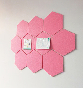 Decorative soundproof Hexagon wall panel PET felt 100% polyester fibre acoustic panel