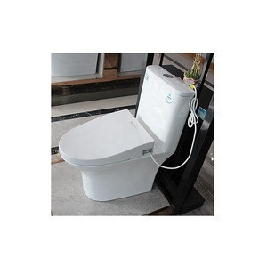 Europe Market Elegant Design Dual Flushing Round Ceramic Bathroom Toilet with Tank