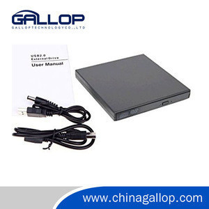External DVD Drive, USB Interface Portable CD/DVD-RW Rewriter Burner Drive for Laptop Notebook PC Desktop Computer Support