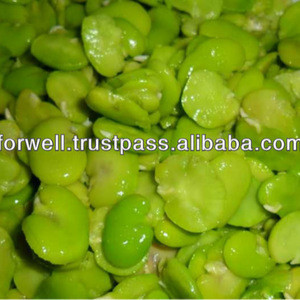 Frozen green broad beans