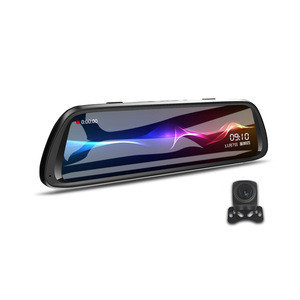 Full HD 1080p Night Vision Car DVR 170 Degree Wide Angle 10 inch IPS Dual Camera Mirror Dashcam Car Black Box