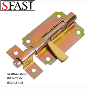 FX tower bolt, pad bolt for door with screws