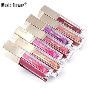 Glitter private label metallic lip gloss with professional manufacturer