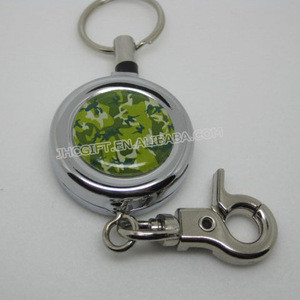 High quality chrome metal small retractable cord reels
