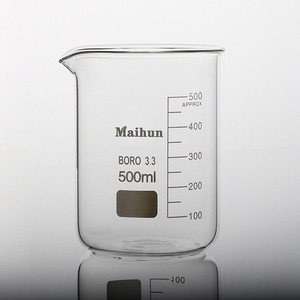 high quality customized thick-wall glass beaker set