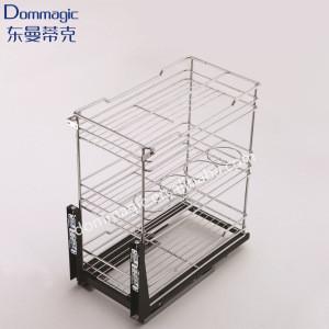 Hot sales Kitchen Storage Accessories mesh storage Pull Out Basket