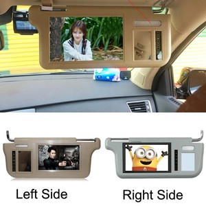 Left or Right 7 inch TFT LCD Car Sun Visor Monitors Display Priority Rearview Mirror Retrovisor grey black beige
