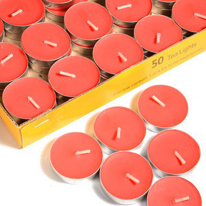 Massage candles wholesale unscented tea light candles made in China