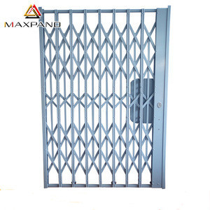 Maxpand Galvanized Sliding Gate Steel Fence Metal Accordion Doors