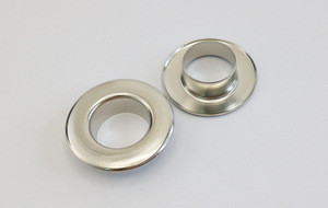 Nickle plating metal garment eyelet with washers for shoes