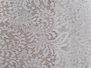 Nylon For Wedding Dress Bridal Lace Fabric Beaded Trim Lace Fabrics