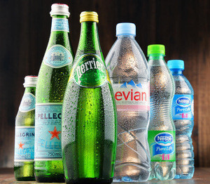 PERRIER , EVIAN , SAN PELLEGRINO , VOLVIC , VITTEL MINERAL WATER