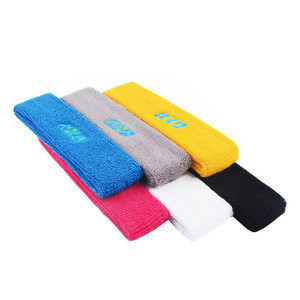 Promotional funny sweatbands custom embroidered sweatbands no minimum