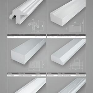 PVC profiles window frame door jamb