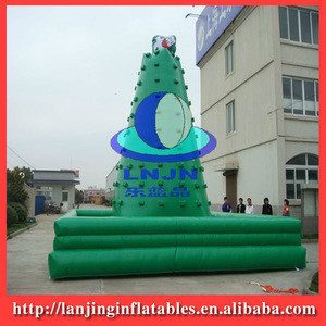 PVC tarpaulin inflatable exciting climbing wall for fun