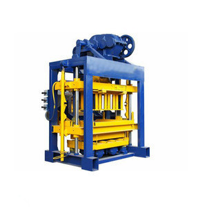 QT Series hollow  interlocking concrete block machine for concrete block production line