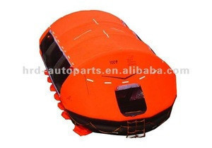 Self-righting type inflatable life raft