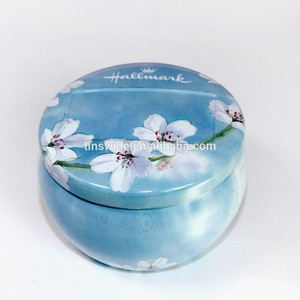 Wholesale round bowl scented wax metal jar candle tinplate box