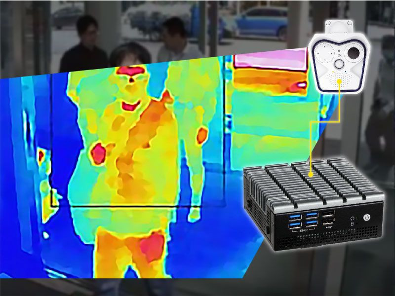 DFI AI Intelligent Digital Thermal Image IP Camera Fever Scanner for Covid-19 Pandemic Detection & Prevention