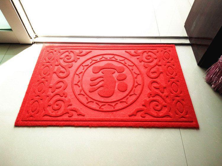 Waterproof Anti-Slip Embossed Door Mat with PVC Back
