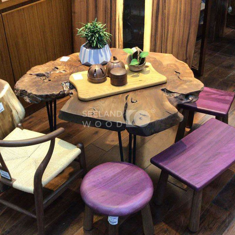 Purple Heart Wood Mini Benches for Adults and Kids