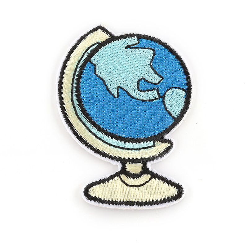 Cartoon Earth Shape Dinosaur Animal Sewing Patches Garment Accessories High Quality Patch