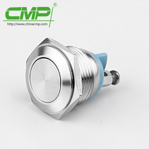 16mm waterproof stainless steel push button micro switch ip67 TUV CE