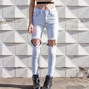9488#Fashion street sexy black womens fishnet stockings