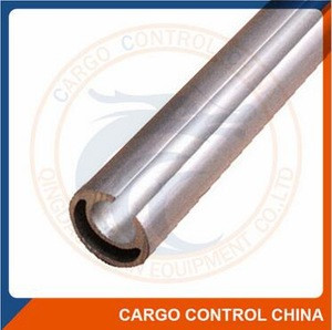 Aluminum curtain tensioning pole
