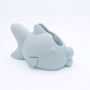 Bathtub Faucet Cover for Kid Silicone Spout Cover Baby Gray Fish Child Bathroom Cute Accessories