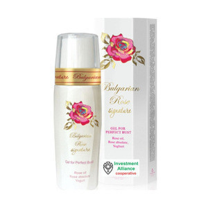 Bulgarian Rose Perfect bust gel cream with natural rose oil product of Bulgaria