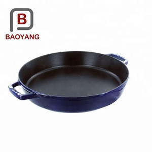China supplier color enamel casting iron cookware kitchen wares