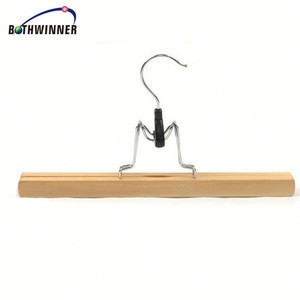 clothing store wood pants clip H0Tdh durable solid wood garment hanger