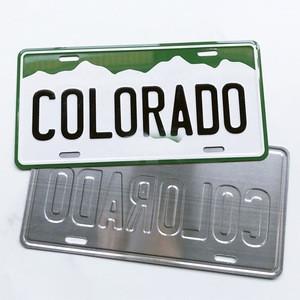 Factory  personalized souvenir car decorative metal aluminum sign number license plate