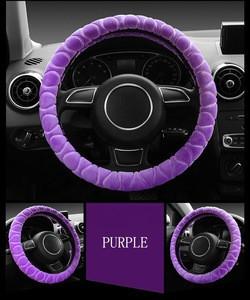 Factory Sale Automobile furry Soft fur Plush steering wheel cover