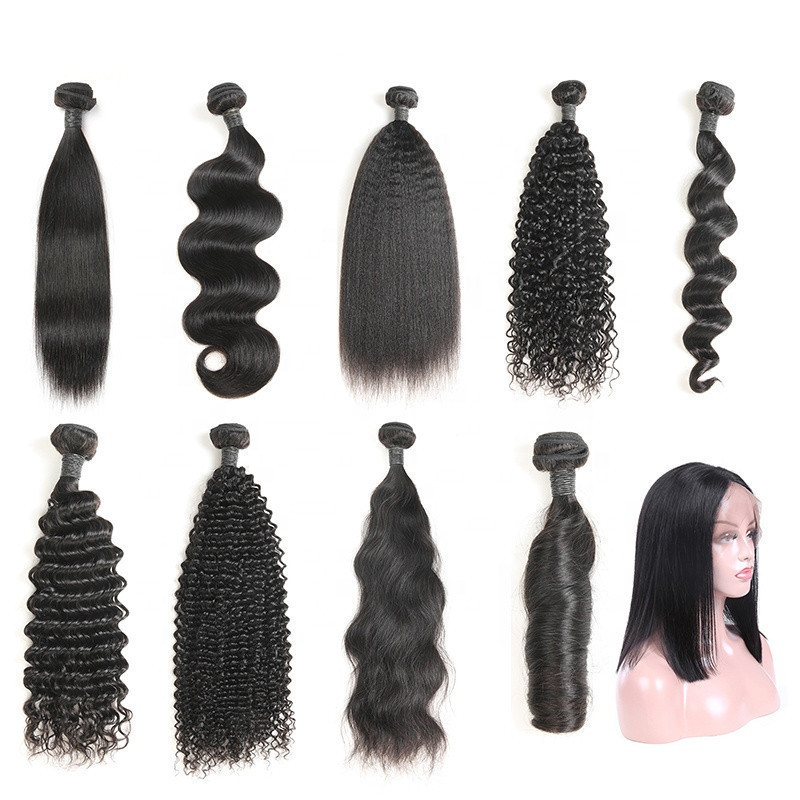 Free Sample Wholesale Factory bulk hair Brazilian Human Hair Bundles with Closure
